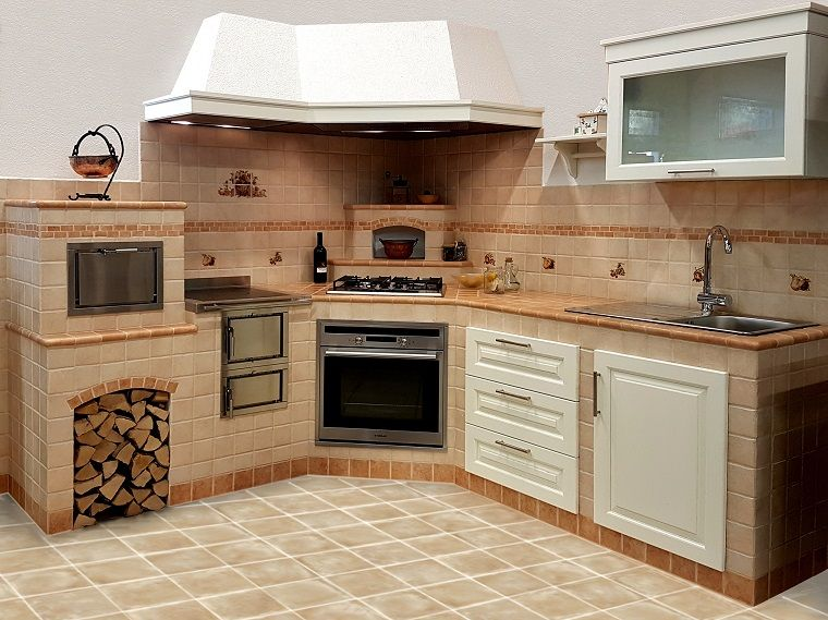 cucina in muratura-forno-legna | INTERIOR DESIGN | Pinterest