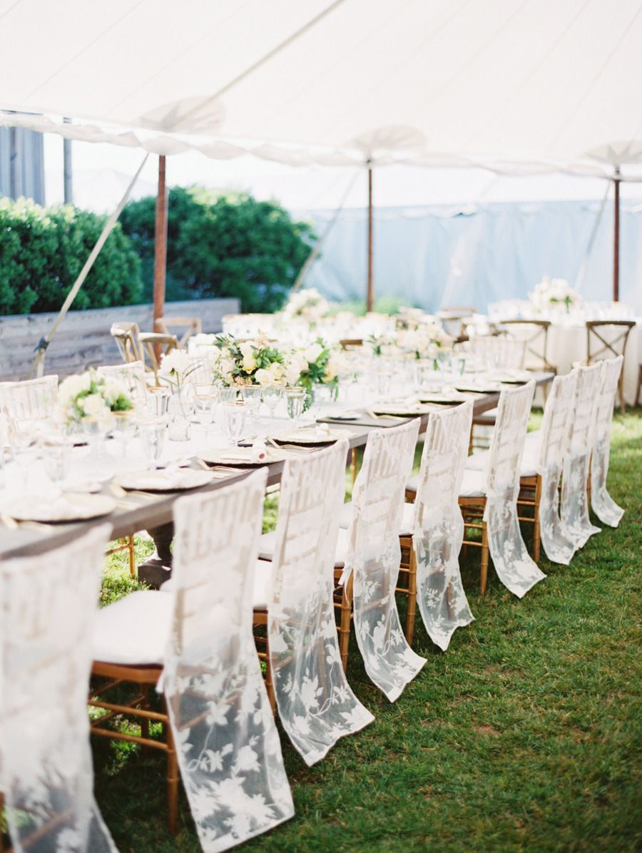 Decor for chairs wedding Our Favorite Summer Locales for Saying