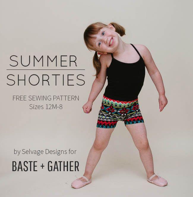 Radlerhose für Kinder - Freebook | broekjes | Pinterest | Nähen ...
