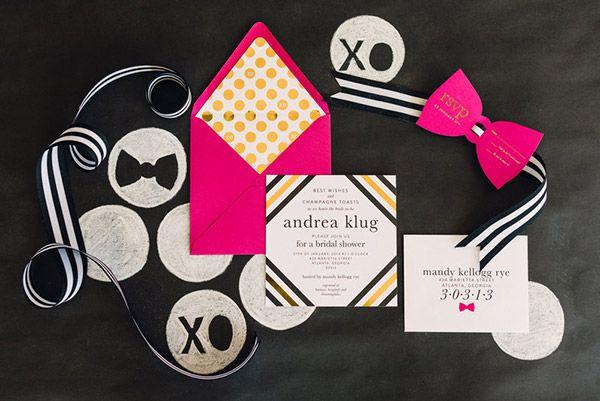 mandy kellogg rye creates a kate spade bridal themed shower - Kate Spade Wedding Invitations
