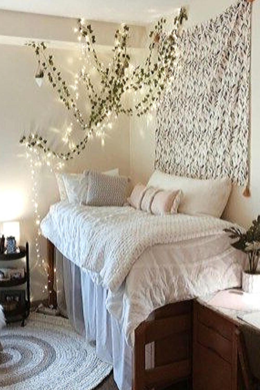 30 Beautifully Diy Fairy Light For Minimalist Bedroom Decoration Dorm Room Decor Dorm Room Inspiration Dorm Room Designs