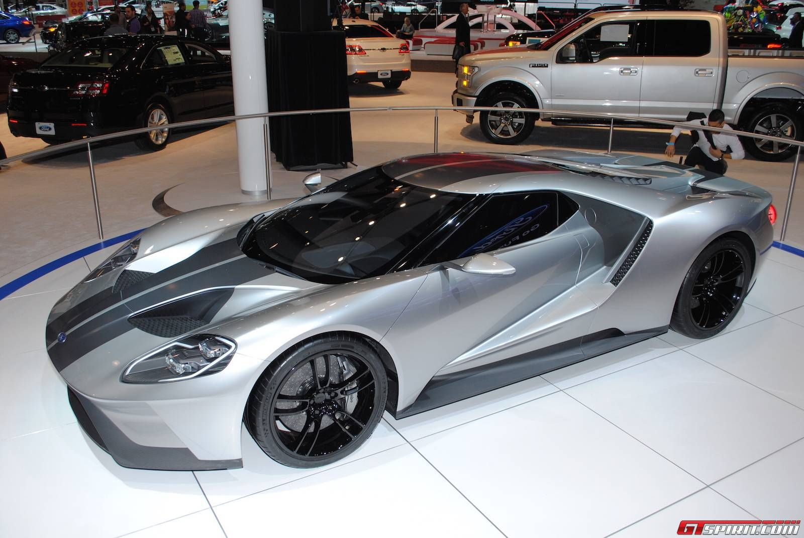 2016 Ford GT in Liquid Silver.