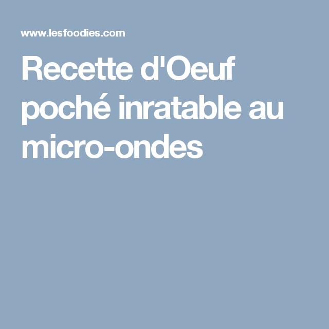 recettes inratables au microondes