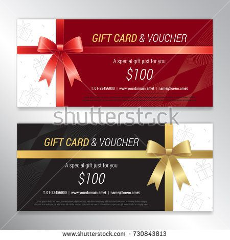 Gift voucher, certificate or discount card template for promo - gift card template