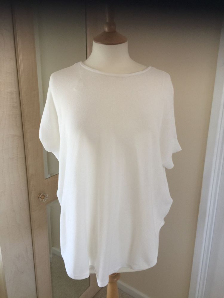 0957b6473868ae OUI LADIES TOP IVORY FINE KNIT TUNIC STYLE SIZE 8 NEW WITH LABELS FABULOUS  #fashion