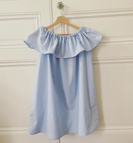 Fashion Beauty And Lifestyle Blogs: DIY: Ruffle Off The Shoulder Dress