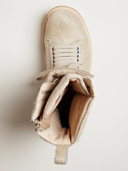 Rick Owens Men's Pony Skin Plinth Boots