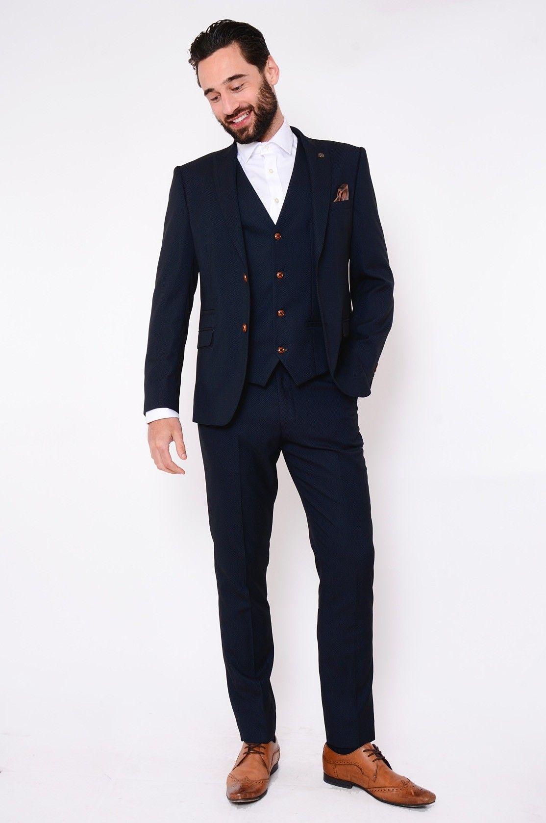 f8f527b83eb8 Modern Navy Suit | Mens | Designer | Marc Darcy | Max ...