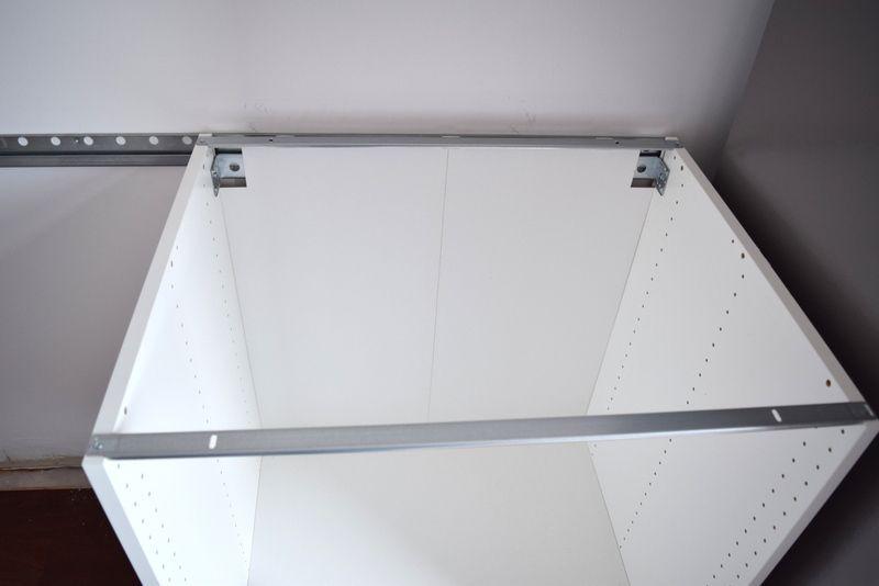Hanging Your Ikea Sektion Railing 13, Ikea Kitchen Cabinet Rail Installation