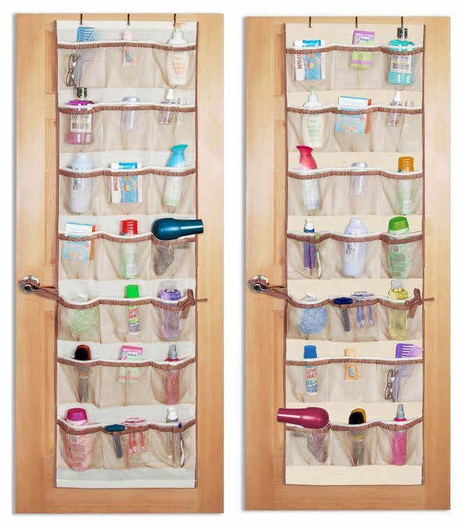 Bathroom Door Organizer Label Outside With The Name Of Each 4 S Sharing