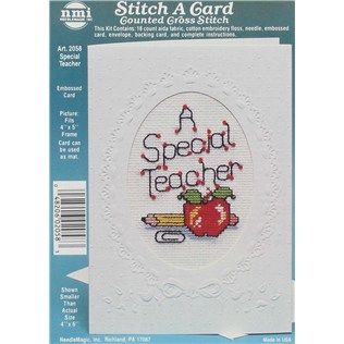 Needle Magic Inc  Special Teacher Stitch A Card Counted Cross Stitch