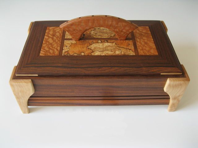 Decorativa Hecha A Mano De Las Cajas De Almacenaje De Maderas Exóticas