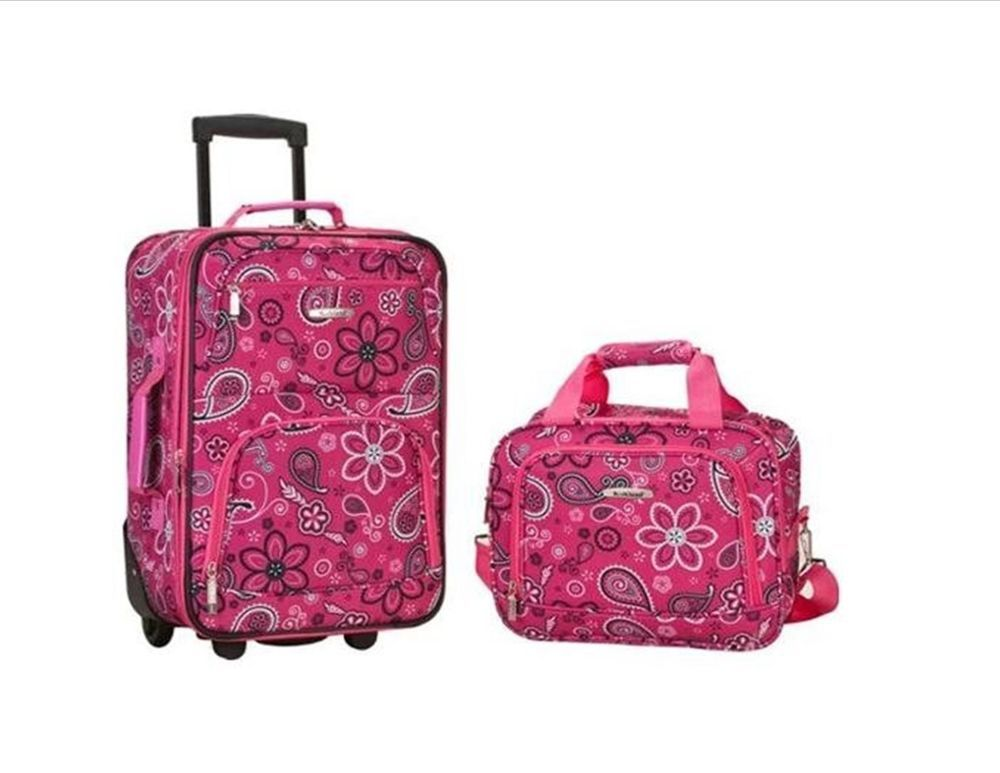 2 PC Rolling Carry On Luggage Set Suitcase Trolley Travel Wheeled ...