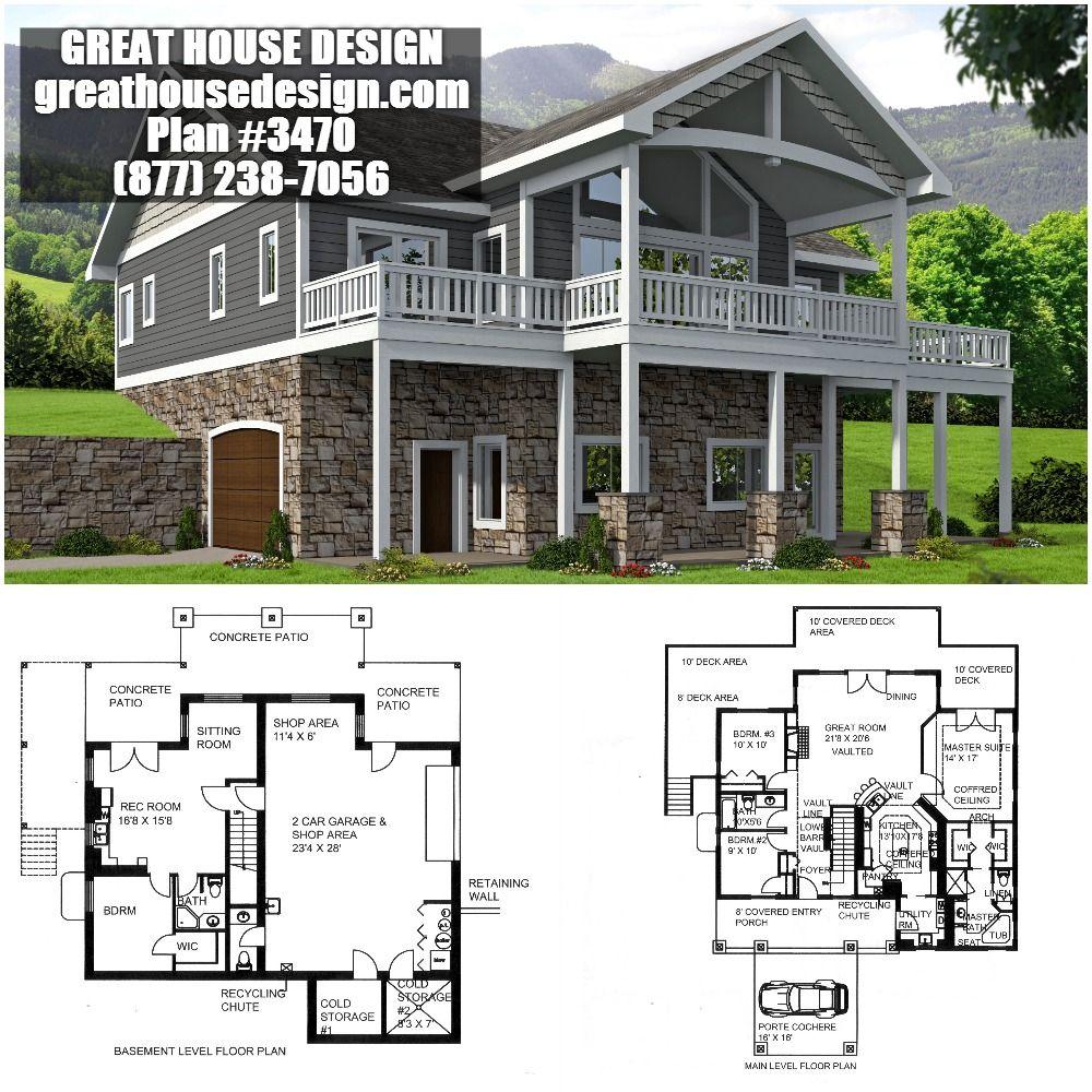 Northwest Style Home With Custom Windows Plan # 001-3470