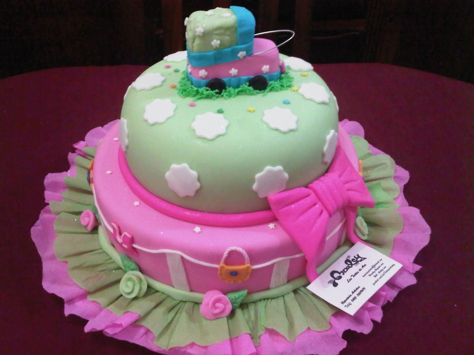 decoracion de pasteles para baby shower rosa Google Search