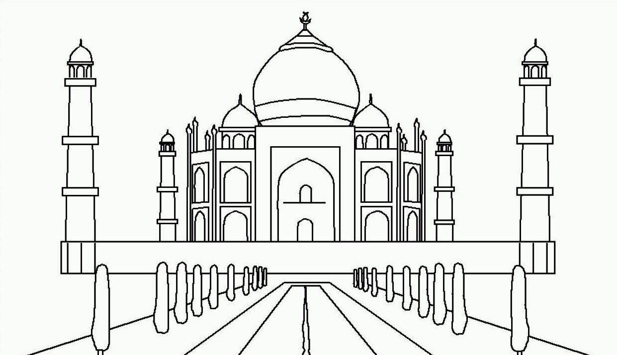 Mewarnai Gambar Masjid Taj Mahal (With Images) Taj Mahal