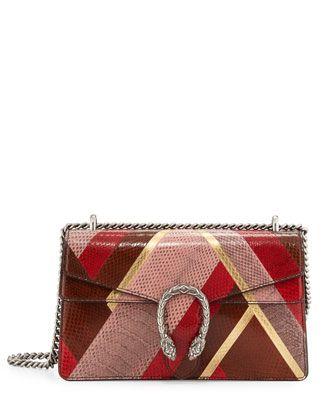 9c385154ca7f Dionysus Snakeskin Shoulder Bag, Pink Red Brown by Gucci at Neiman Marcus. Leather  Shoulder BagsShoulder ...