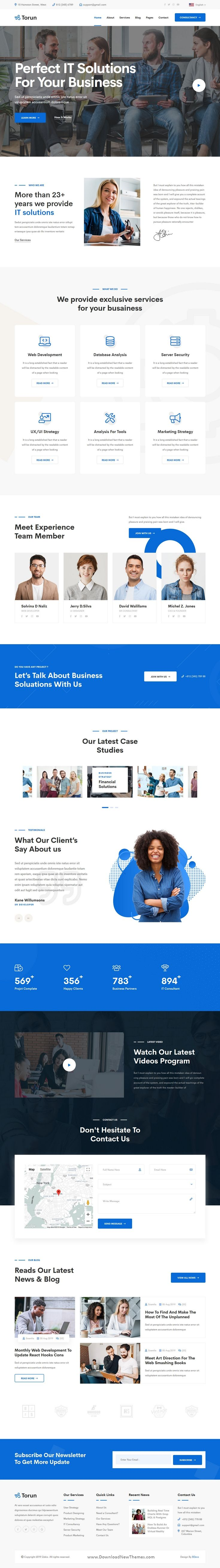 Torun Is A Clean Elegant And Modern Design Responsive Bootstrap Html Template For It Technolo It Services Company Wordpress Theme Responsive Wordpress Theme