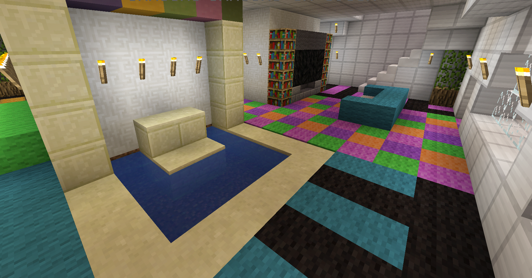 Minecraft Colorful Rainbow Carpet Designs Kitchen Carpet