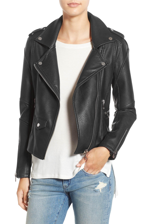 BLANKNYC 'Easy Rider' Faux Leather Moto Jacket Faux