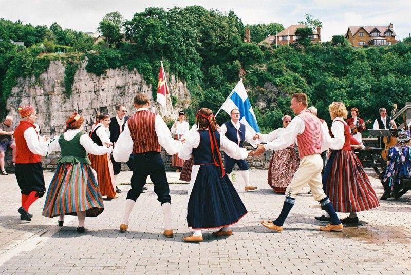Folk dances. Finland.