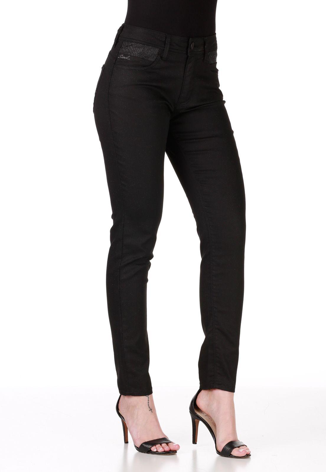 Calça Jeans DAFITI JOY Rasgada Preta