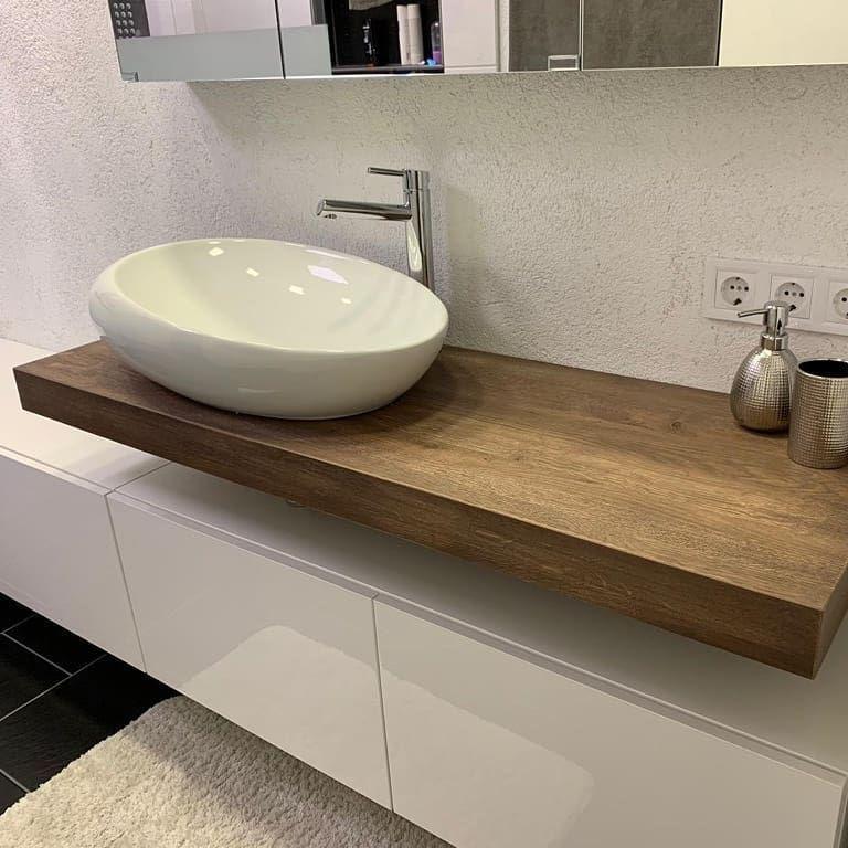 """Photo of Rene Schulten on Instagram: """"http://www.waschtisch.online #bathroom #badezimmer #massivholz #eiche #waschtischplatte #design"""" – My Blog"""
