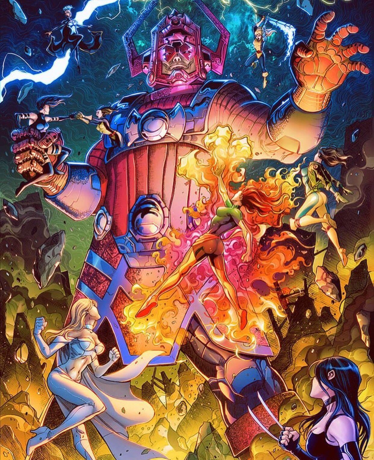X-men Vs Galactus  Marvel comics art, Marvel artwork, Galactus marvel