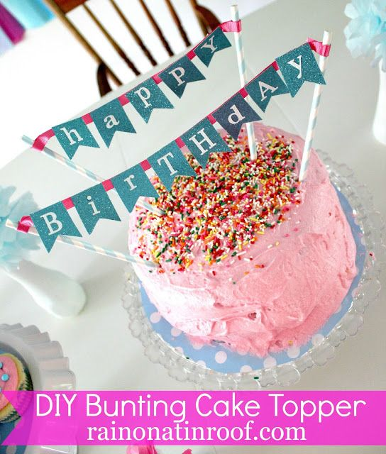 Diy Cake Bunting Topper Buntings Bunting Cake Toppers And Diy Bunting
