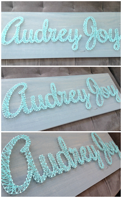 Diy Nursery Art Name Sign Using Nails Wred With Yarn Or Thread