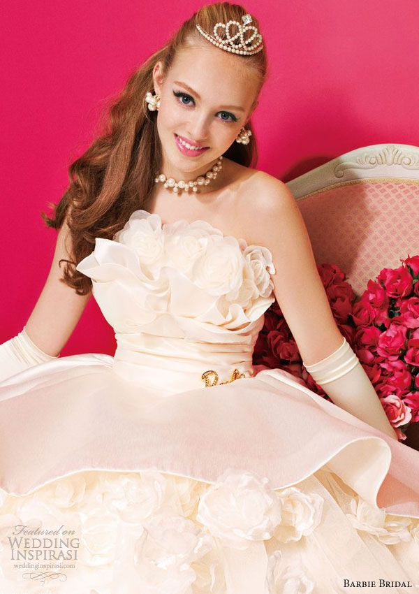 Barbie style wedding dress