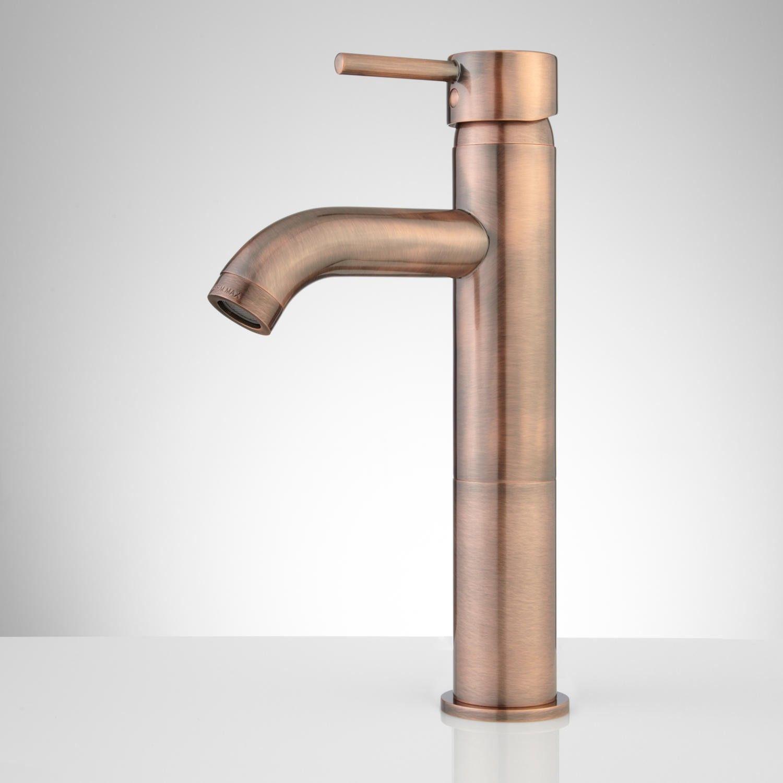 Rotunda Curved Spout Single-Hole Vessel Faucet | Vessel faucets ...