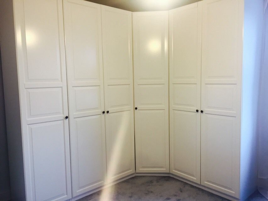 Ikea Pax White Wardrobes With Birkland Doors Double Single And