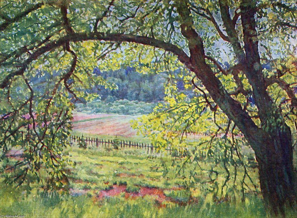 La lumière et de l air, huile sur toile de Konstantin Yuon (1875-1958, Russia)