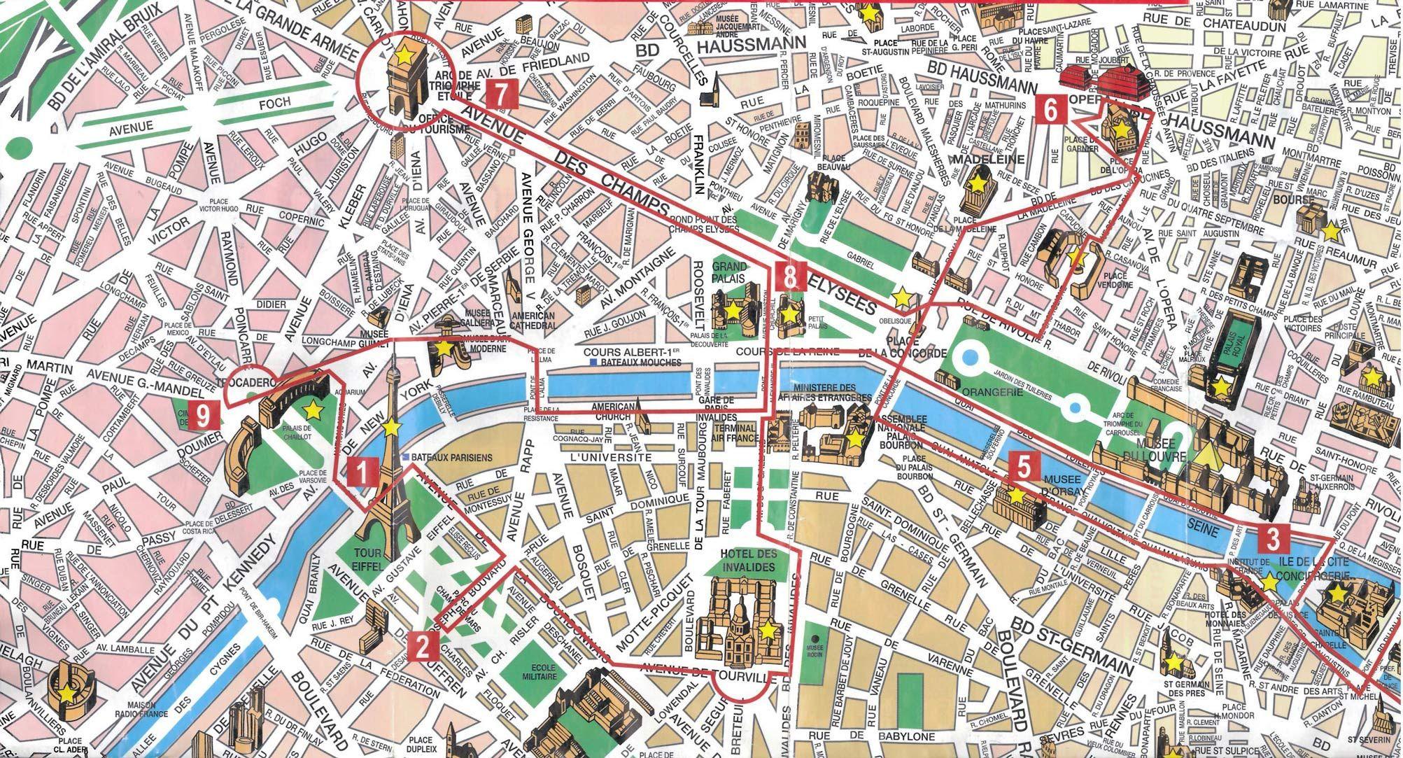 mapa de paris com monumentos Monumentos em Paris, França | Viagens   Oportunidade para sonhar  mapa de paris com monumentos