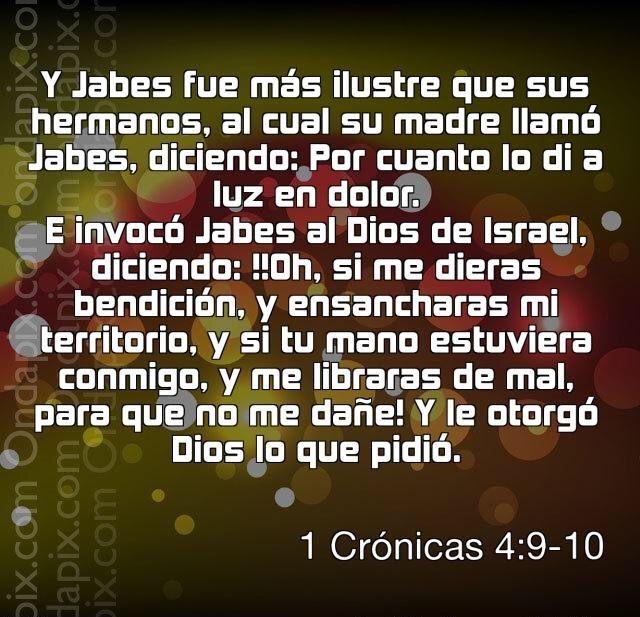 Si se lo dio a Jabes...tambien te lo dara a ti... Que le estas pidiendo a Dios que no sea capaz de darte?. #Dios es fiel...