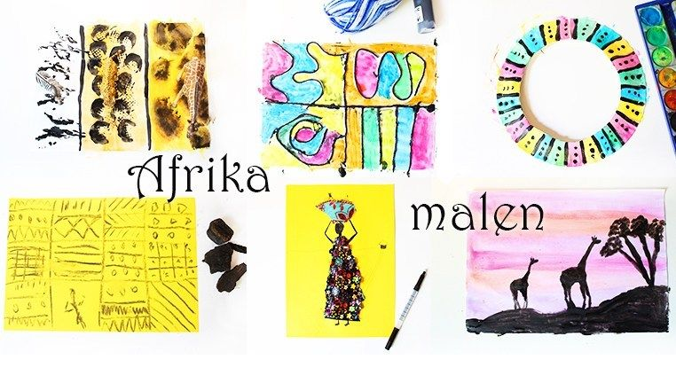 Afrika Malen Afrikanische Kunst Fur Kinder Video Afrikanische
