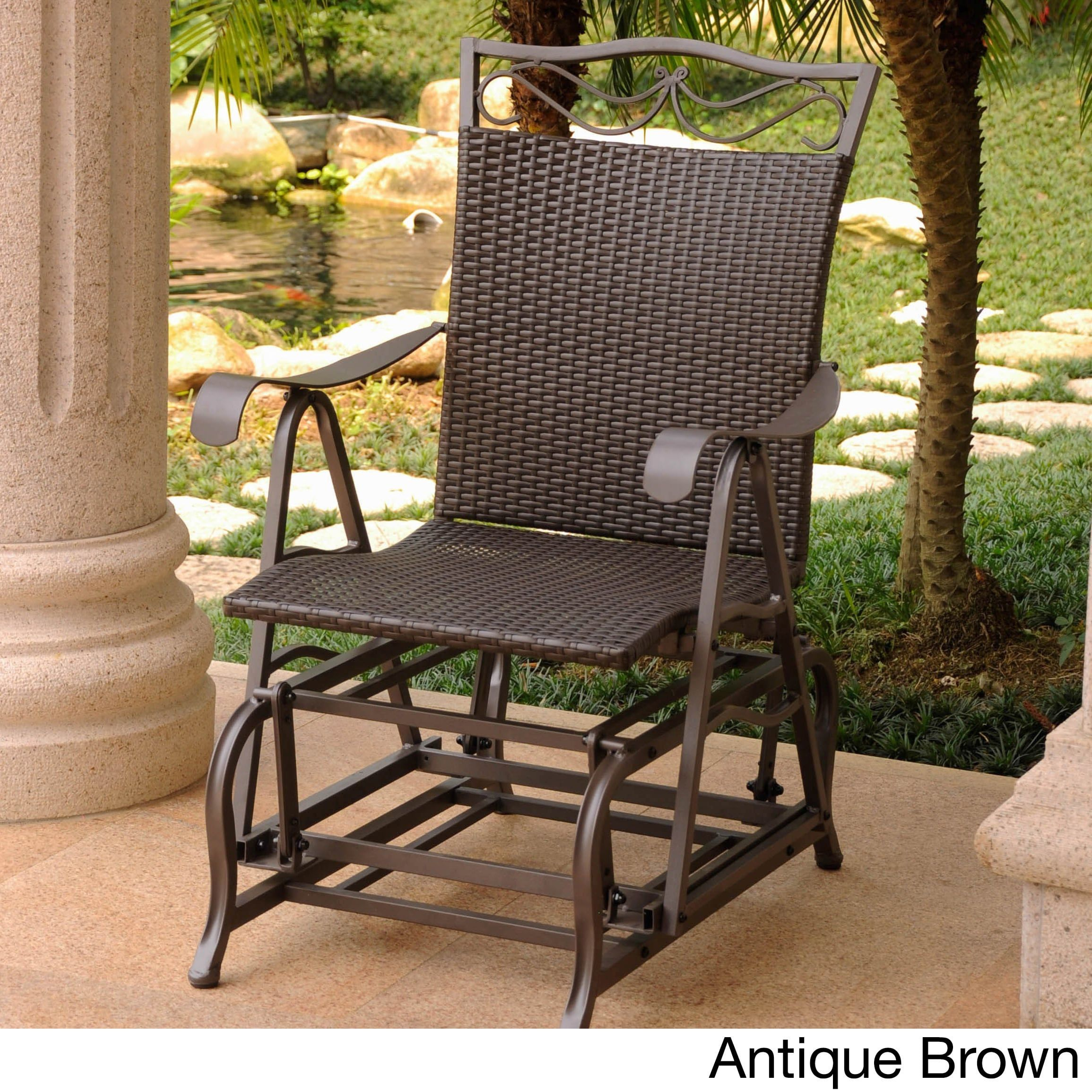 Single Glider Patio Chairs Wherearethebonbons
