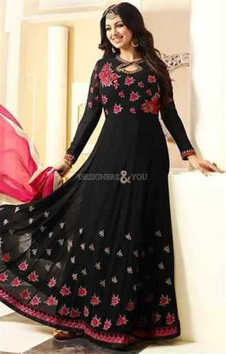 Chic Black Bollywood Celebrity Ayesha Takia Suggested Gown Dress ...