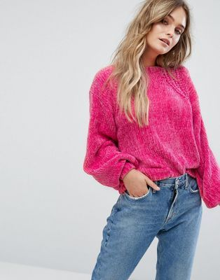 b487cab86b8 River Island Balloon Sleeve Chenille Sweater   Clothes Before Hoes ...