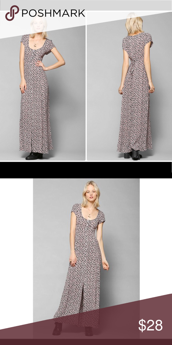 7f52ba1517da Kimchi Blue button down floral maxi dress like new Kimchi Blue Georgina  floral button down maxi. Tiny red and white flowers on a black background.