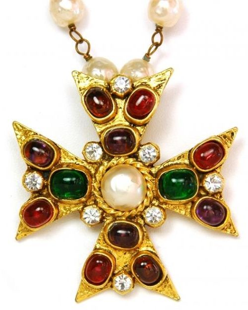 083cb8f5b Byzantine style Cross vintage brooch-pendant. Coco Chanel jewellery ...