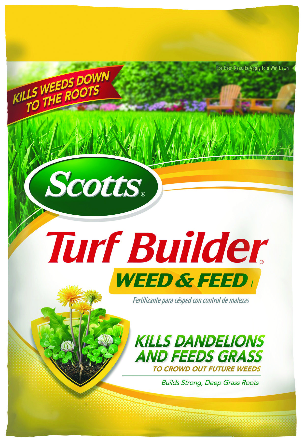 Kill dandelions and other major lawn weeds quickly with scotts turf
