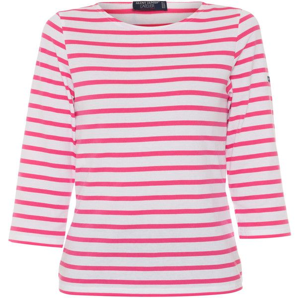 Saint james galathee white and hot pink striped shirt 95 for St james striped shirt