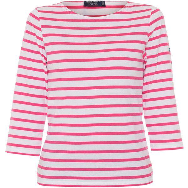 Saint James Galathee White And Hot Pink Striped Shirt ($95 ...