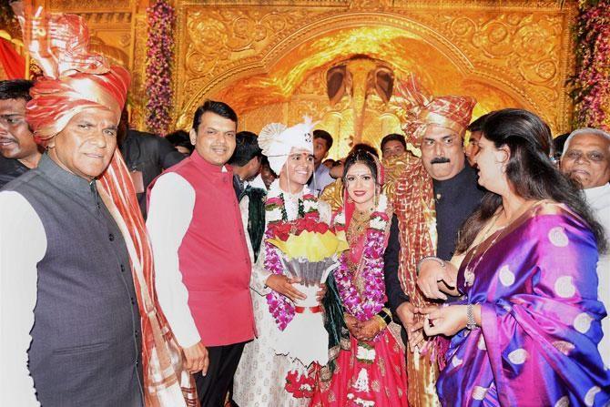 Maharashtra Bjp Chief S Son Wedding Was Straight Out Of A Karan Johar Movie