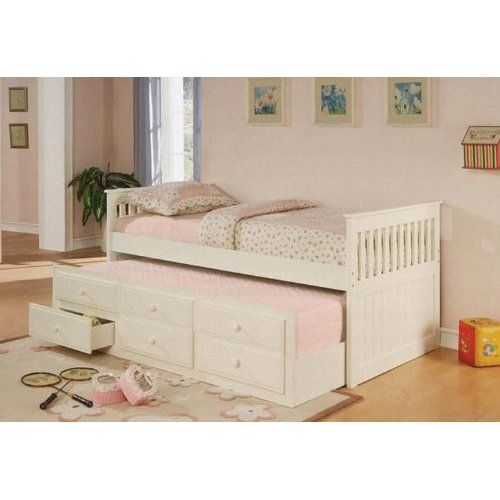 Details About White 3 Piece Storage Drawers Twin Bed Box: Style Daybed With Trundle IKEA And There Are 6 Drawer