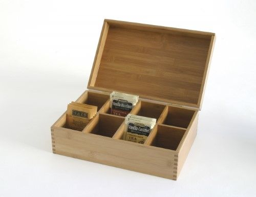 Bamboo Tea Box with All Wood Lid