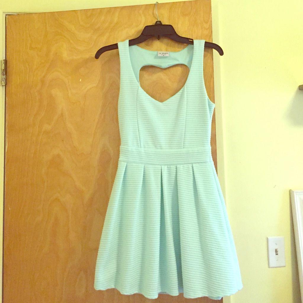 Mint Green La Hearts Dress