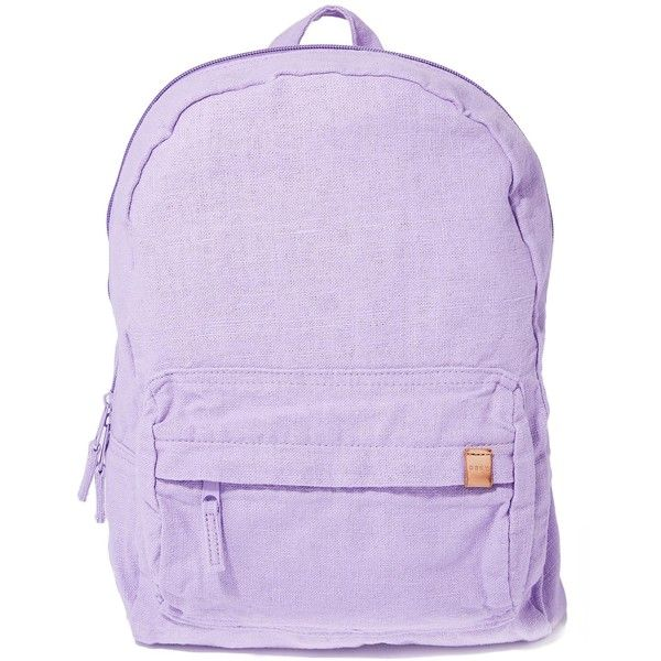 Obey South Side Backpack ($50) ❤ liked on Polyvore featuring bags, backpacks, backpack bags, obey clothing, purple backpack, zip bag and zipper bag